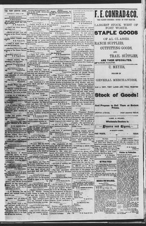 Fort Griffin Echo (Fort Griffin, Tex.), Vol. [3], No. [12], Ed. 1 Saturday, April 2, 1881