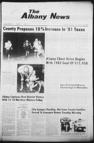 Primary view of object titled 'The Albany News (Albany, Tex.), Vol. 106, No. 17, Ed. 1 Thursday, October 15, 1981'.