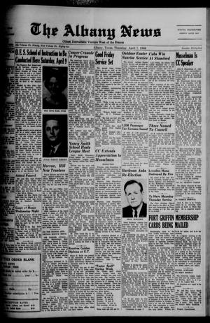 Primary view of object titled 'The Albany News (Albany, Tex.), Vol. 82, No. 32, Ed. 1 Thursday, April 7, 1966'.