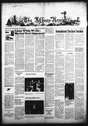 Primary view of object titled 'The Albany News (Albany, Tex.), Vol. 90, No. 11, Ed. 1 Thursday, November 1, 1973'.