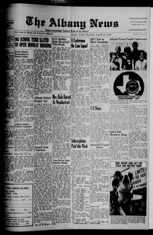 Primary view of object titled 'The Albany News (Albany, Tex.), Vol. 82, No. 52, Ed. 1 Thursday, August 25, 1966'.