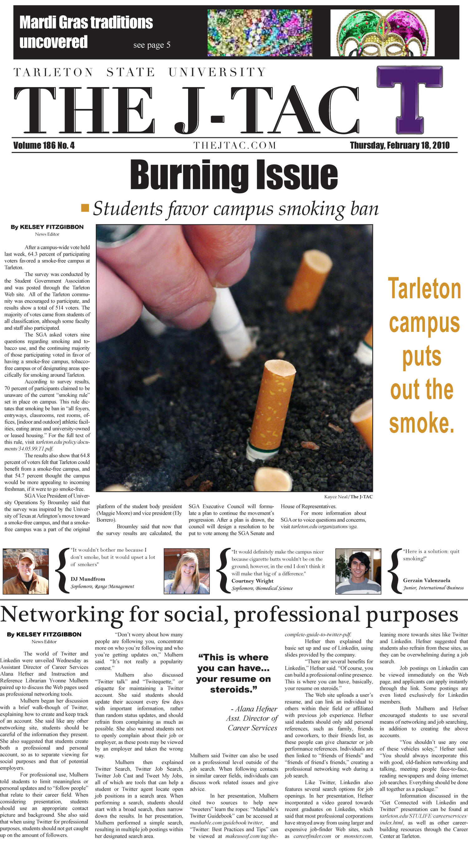The J-TAC (Stephenville, Tex.), Vol. 186, No. 04, Ed. 1 Thursday, February 18, 2010                                                                                                      [Sequence #]: 1 of 8