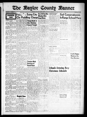 Primary view of object titled 'The Baylor County Banner (Seymour, Tex.), Vol. 61, No. 17, Ed. 1 Thursday, December 13, 1956'.