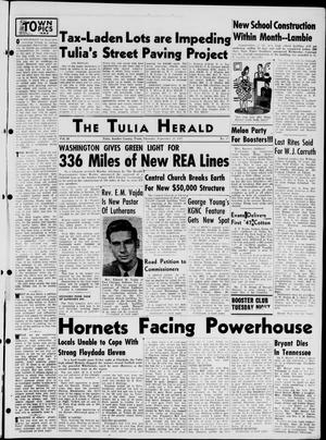 Primary view of object titled 'The Tulia Herald (Tulia, Tex), Vol. 38, No. 39, Ed. 1, Thursday, September 25, 1947'.