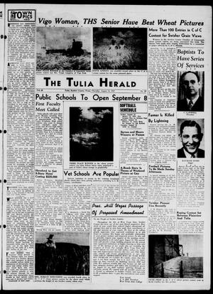 Primary view of object titled 'The Tulia Herald (Tulia, Tex), Vol. 38, No. 33, Ed. 1, Thursday, August 14, 1947'.