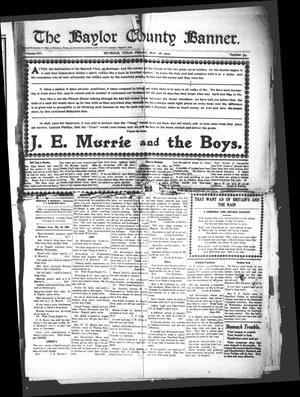Primary view of object titled 'The Baylor County Banner. (Seymour, Tex.), Vol. 14, No. 34, Ed. 1 Friday, May 28, 1909'.