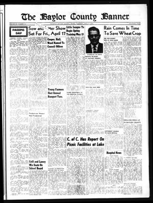 Primary view of object titled 'The Baylor County Banner (Seymour, Tex.), Vol. 63, No. 34, Ed. 1 Thursday, April 9, 1959'.