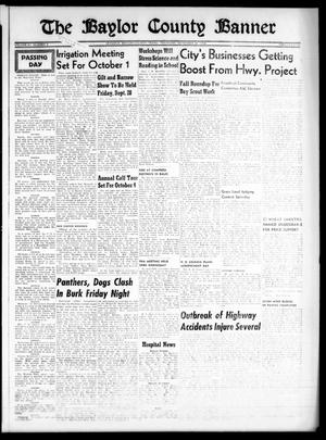 Primary view of object titled 'The Baylor County Banner (Seymour, Tex.), Vol. 61, No. 5, Ed. 1 Thursday, September 20, 1956'.