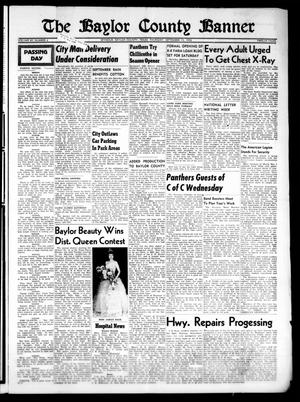 Primary view of object titled 'The Baylor County Banner (Seymour, Tex.), Vol. 60, No. 4, Ed. 1 Thursday, September 15, 1955'.