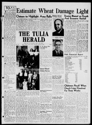 Primary view of object titled 'The Tulia Herald (Tulia, Tex), Vol. 38, No. 6, Ed. 1, Thursday, February 6, 1947'.