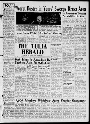 Primary view of object titled 'The Tulia Herald (Tulia, Tex), Vol. 38, No. 5, Ed. 1, Thursday, January 30, 1947'.
