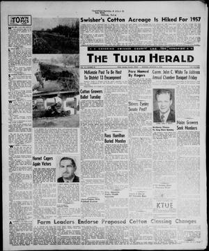 Primary view of object titled 'The Tulia Herald (Tulia, Tex), Vol. 47, No. 49, Ed. 1, Thursday, December 6, 1956'.