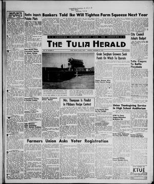 Primary view of object titled 'The Tulia Herald (Tulia, Tex), Vol. 47, No. 47, Ed. 1, Thursday, November 22, 1956'.