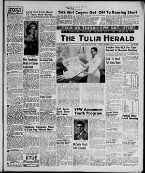 Primary view of object titled 'The Tulia Herald (Tulia, Tex), Vol. 47, No. 46, Ed. 1, Thursday, November 15, 1956'.