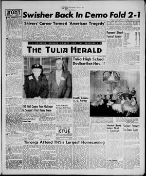 Primary view of object titled 'The Tulia Herald (Tulia, Tex), Vol. 47, No. 45, Ed. 1, Thursday, November 8, 1956'.