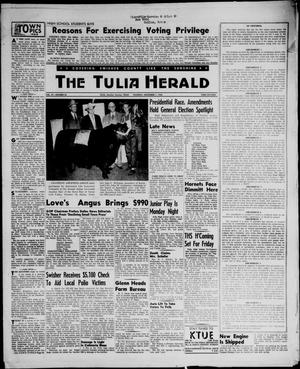 Primary view of object titled 'The Tulia Herald (Tulia, Tex), Vol. 47, No. 44, Ed. 1, Thursday, November 1, 1956'.