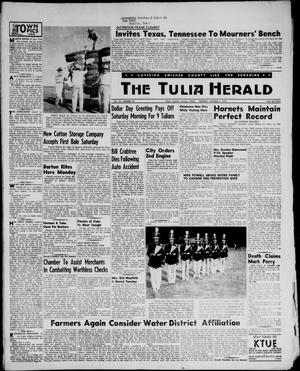 Primary view of object titled 'The Tulia Herald (Tulia, Tex), Vol. 47, No. 40, Ed. 1, Thursday, October 4, 1956'.