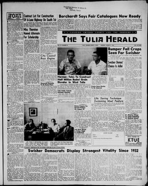Primary view of object titled 'The Tulia Herald (Tulia, Tex), Vol. 47, No. 32, Ed. 1, Thursday, August 9, 1956'.