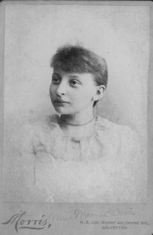 [Miss Mamie Davis (Mrs. A.P. George) as a young girl.]