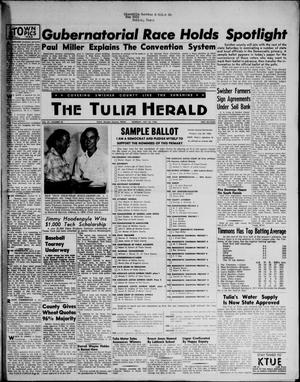 Primary view of object titled 'The Tulia Herald (Tulia, Tex), Vol. 47, No. 30, Ed. 1, Thursday, July 26, 1956'.