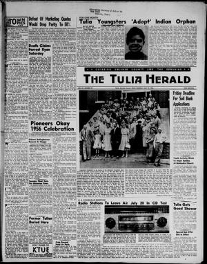 Primary view of object titled 'The Tulia Herald (Tulia, Tex), Vol. 47, No. 29, Ed. 1, Thursday, July 19, 1956'.