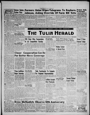 Primary view of object titled 'The Tulia Herald (Tulia, Tex), Vol. 47, No. 16, Ed. 1, Thursday, April 19, 1956'.