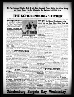 Primary view of object titled 'The Schulenburg Sticker (Schulenburg, Tex.), Vol. 68, No. 6, Ed. 1 Thursday, August 31, 1961'.