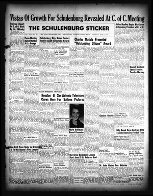 Primary view of object titled 'The Schulenburg Sticker (Schulenburg, Tex.), Vol. 66, No. 46, Ed. 1 Thursday, June 9, 1960'.