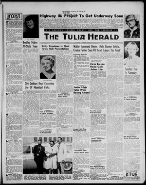Primary view of object titled 'The Tulia Herald (Tulia, Tex), Vol. 47, No. 12, Ed. 1, Thursday, March 22, 1956'.