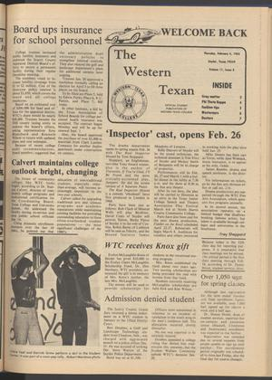 The Western Texan (Snyder, Tex.), Vol. 11, No. 8, Ed. 1 Thursday, February 4, 1982