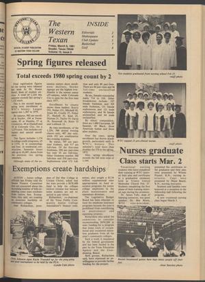 The Western Texan (Snyder, Tex.), Vol. 10, No. 10, Ed. 1 Friday, March 6, 1981