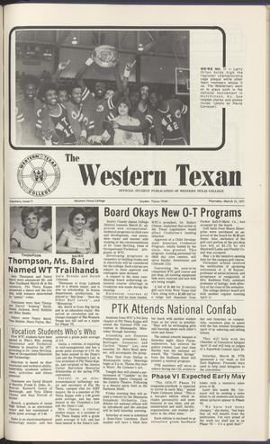 The Western Texan (Snyder, Tex.), Vol. 6, No. 11, Ed. 1 Thursday, March 31, 1977