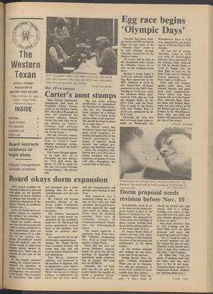 Primary view of object titled 'The Western Texan (Snyder, Tex.), Vol. 10, No. 4, Ed. 1 Friday, October 24, 1980'.
