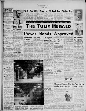 Primary view of object titled 'The Tulia Herald (Tulia, Tex), Vol. 47, No. 8, Ed. 1, Thursday, February 23, 1956'.
