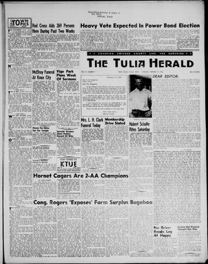 Primary view of object titled 'The Tulia Herald (Tulia, Tex), Vol. 47, No. 7, Ed. 1, Thursday, February 16, 1956'.