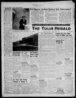 Primary view of object titled 'The Tulia Herald (Tulia, Tex), Vol. 47, No. 5, Ed. 1, Thursday, February 2, 1956'.