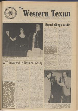 The Western Texan (Snyder, Tex.), Vol. 7, No. 6, Ed. 1 Wednesday, November 23, 1977