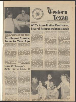 The Western Texan (Snyder, Tex.), Vol. 8, No. 1, Ed. 1 Thursday, September 28, 1978