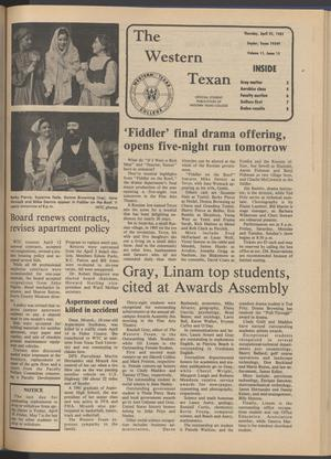The Western Texan (Snyder, Tex.), Vol. 11, No. 13, Ed. 1 Thursday, April 22, 1982