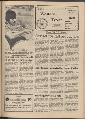 The Western Texan (Snyder, Tex.), Vol. 11, No. 4, Ed. 1 Thursday, October 29, 1981