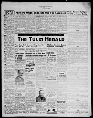 Primary view of object titled 'The Tulia Herald (Tulia, Tex), Vol. 47, No. 1, Ed. 1, Thursday, January 5, 1956'.