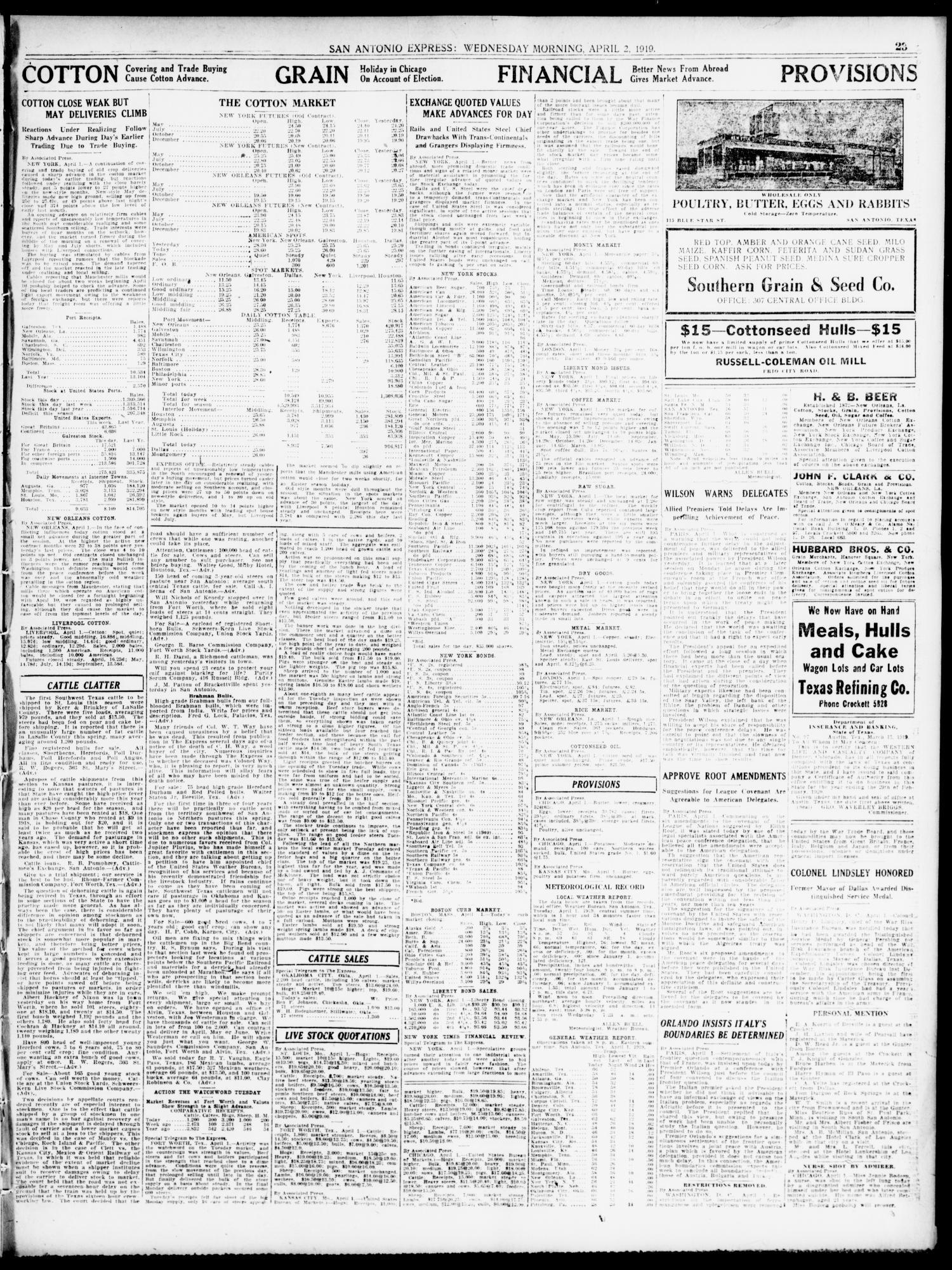 San Antonio Express  (San Antonio, Tex ), Vol  54, No  91