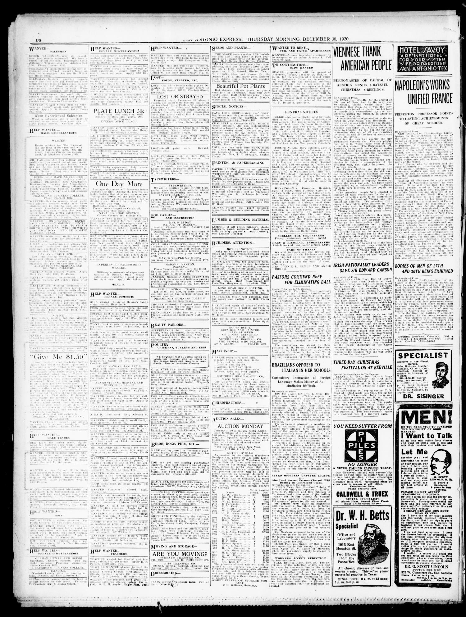 San Antonio Express  (San Antonio, Tex ), Vol  55, No  365