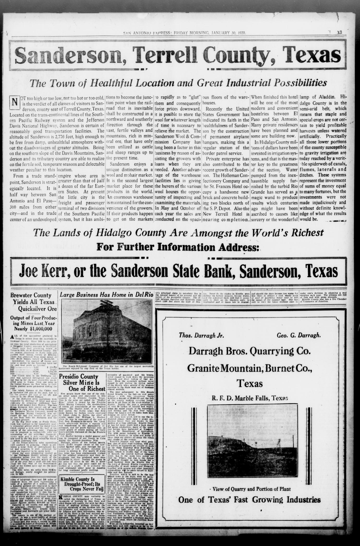 San Antonio Express  (San Antonio, Tex ), Vol  55, No  30