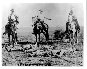 Primary view of object titled 'Texas Rangers with Dead Mexican Bandits'.