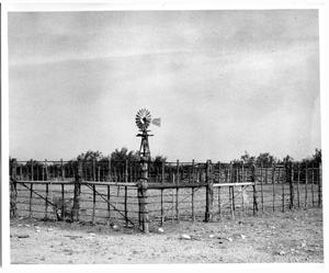Primary view of object titled 'Axtell Windmill on a texas Ranch'.