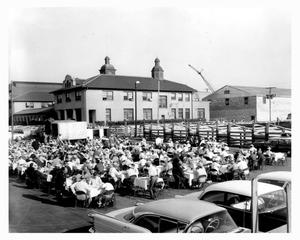Primary view of object titled 'Fort Worth Auction Market Opening - 1960'.