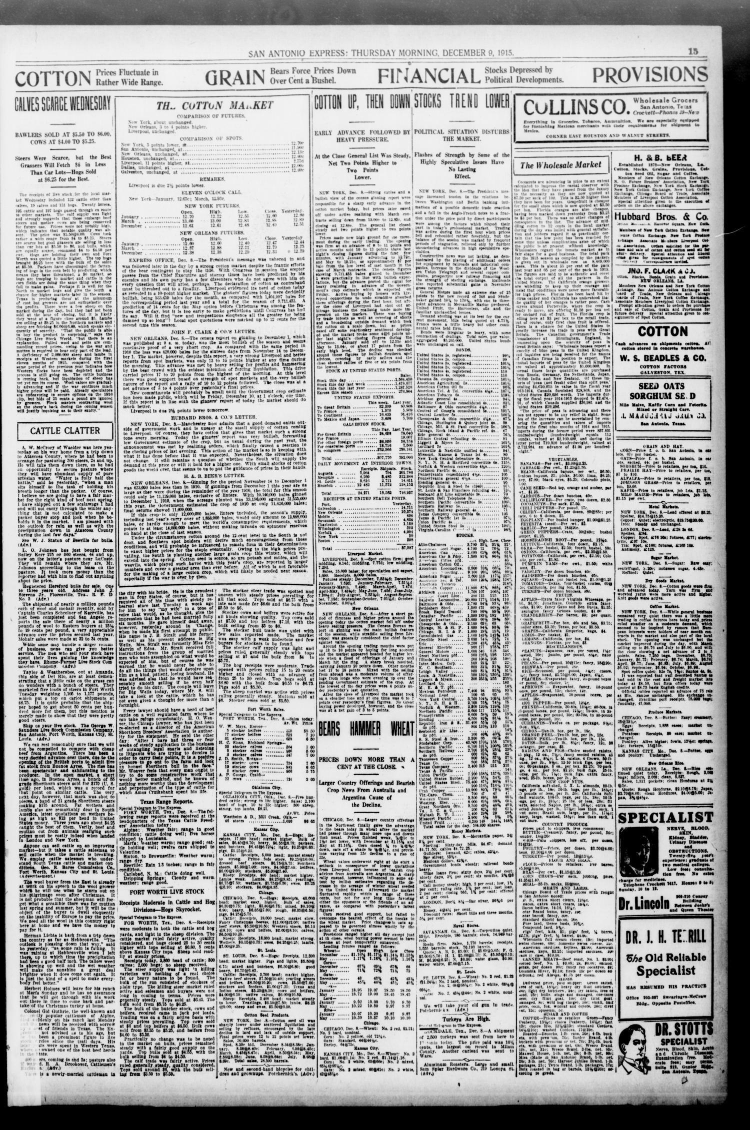 San Antonio Express  (San Antonio, Tex ), Vol  50, No  343