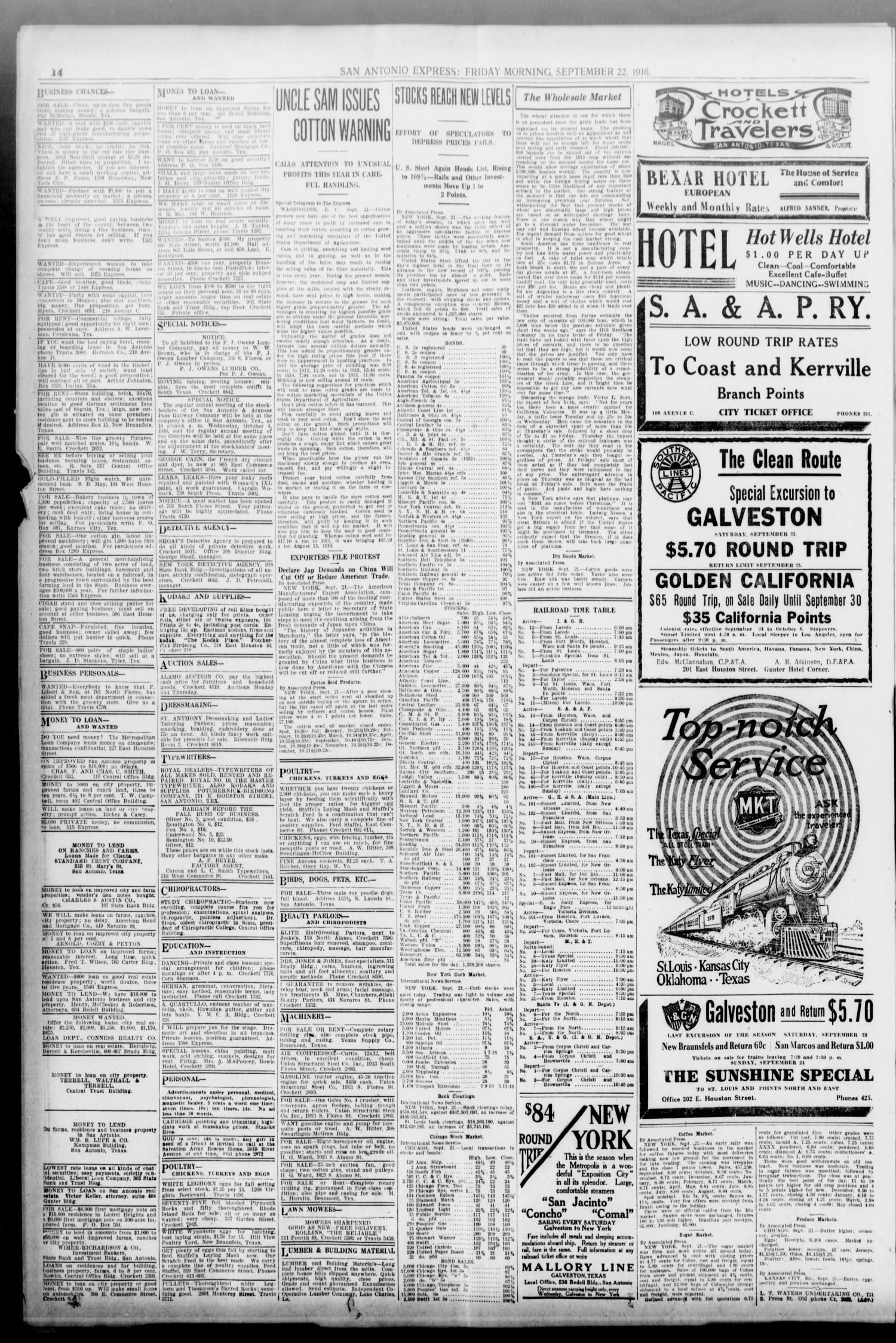 San Antonio Express  (San Antonio, Tex ), Vol  51, No  266