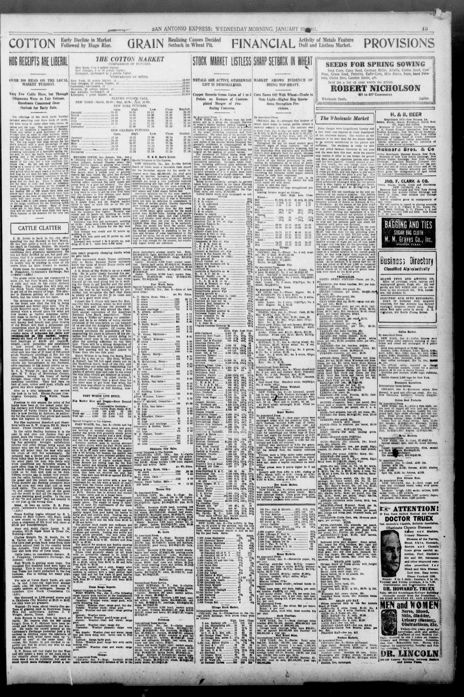 San Antonio Express  (San Antonio, Tex ), Vol  52, No  10